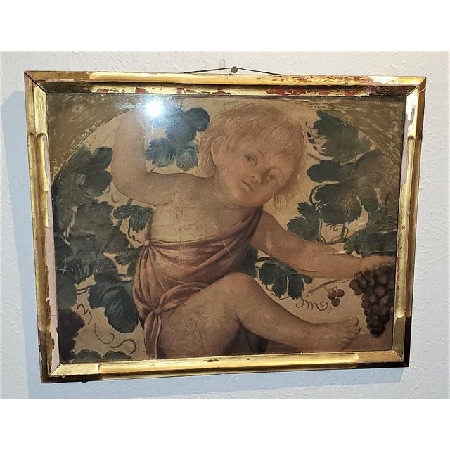 Early 20th Century Medici Print of Putti Under a Vine For Sale In Dallas - Image 6 of 11