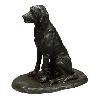 Antique 1900s Artistic Bronze Cast of a Retriver, Germany For Sale