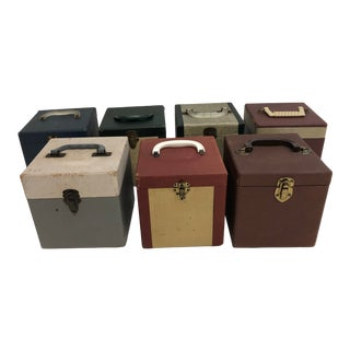 Vintage 45 Record Storage Boxes - Lot of 7 Cases For Sale