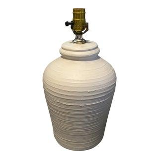 Vintage Handmade Plaster Lamp, Signed For Sale