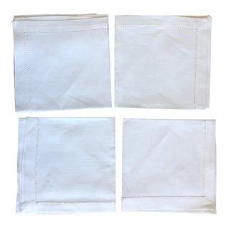 Vintage Linen Luncheon Napkins - Set of 4 For Sale