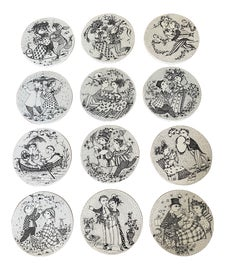 Image of Bjorn Wiinblad Decorative Plates