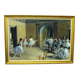 "Mural Size Edgar Degas Ballet ""Studio at the Opera in Rue Le Peletier"" Reproduction on Canvas, 1872 For Sale"