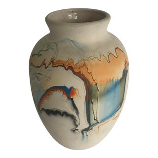 Mid 20th Century Nemadji Pottery Vase For Sale