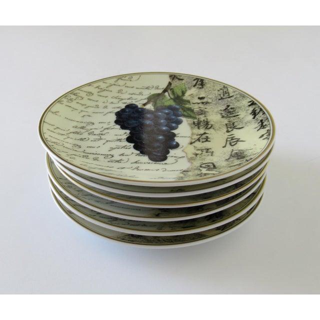 "Bernardaud Bernaradaud Limoges ""Peosie"" Canapé Plates - Set of 6 For Sale - Image 4 of 13"
