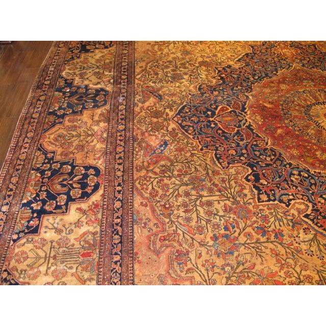 Cotton Exquisite Antique Oversize Mohtashem Kashan Carpet For Sale - Image 7 of 9