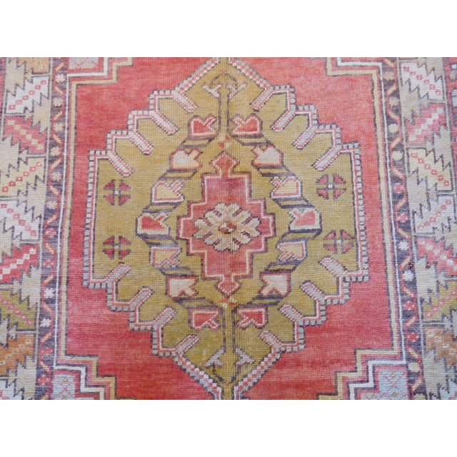 Vintage Turkish Oushak Rug - 3′6″ × 5′4″ - Image 2 of 5