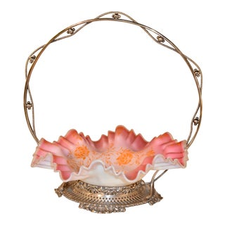 Late 19th Century English Bridal Basket For Sale