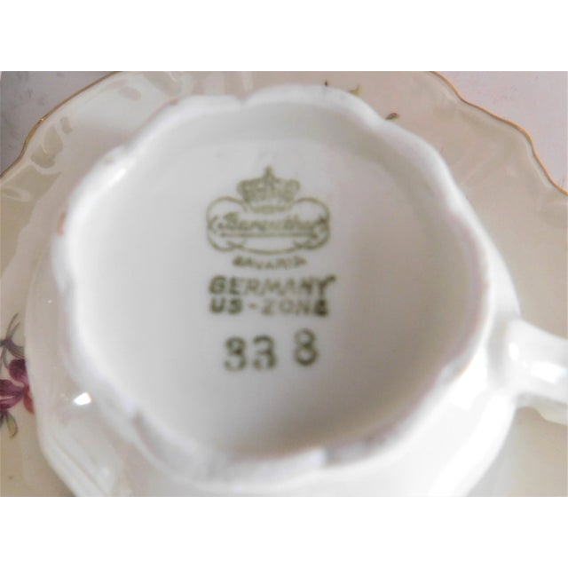 Cream Antique Porcelain Demi-Tasse Cups & Saucers German and Limoges MIX and Match Sets - Service for 6 For Sale - Image 8 of 13