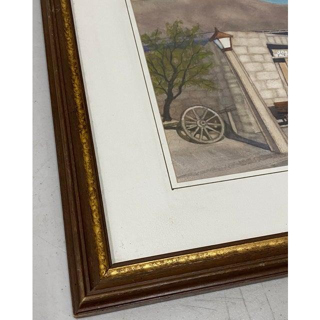 "Art Ellis ""Calico Mine, Joe's Saloon"" Original Watercolor C.1980 For Sale - Image 4 of 12"