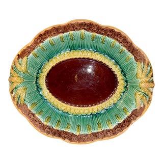 19th Century Majolica Bread Tray For Sale