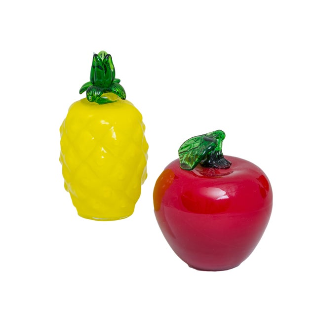 Art Glass Fruit and Vegetables - Set of 7 - Image 3 of 5