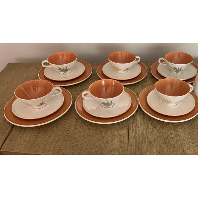 """Coffee Vintage Iroquois China """"Harvest Time"""" Coffee/Tea/Dessert Set Service for 6 (18 Piece Set) For Sale - Image 8 of 8"""