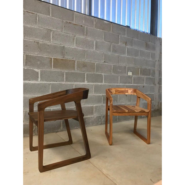 Modern Ebb and Flow Celine Dining Chair in Natural Teak For Sale - Image 3 of 4