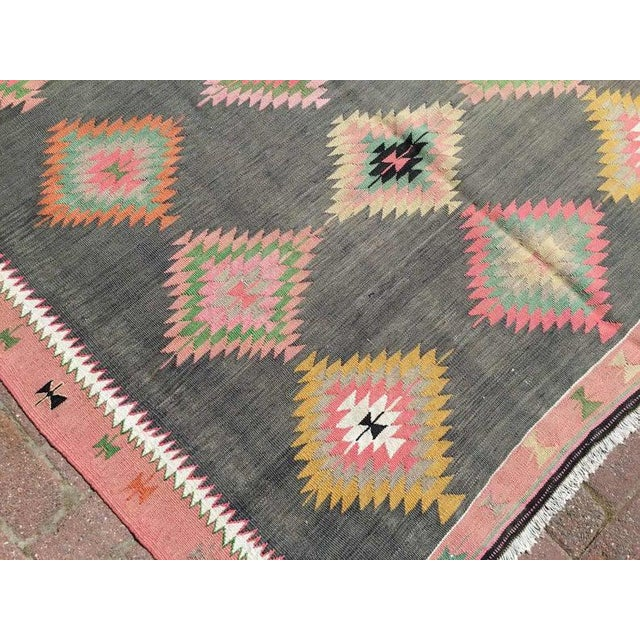 """1960s Vintage Turkish Kilim Rug-5'5'x8'5"""" For Sale In Raleigh - Image 6 of 9"""