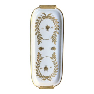 Gilded Decorative Valet Plate With Bees and Laurel For Sale