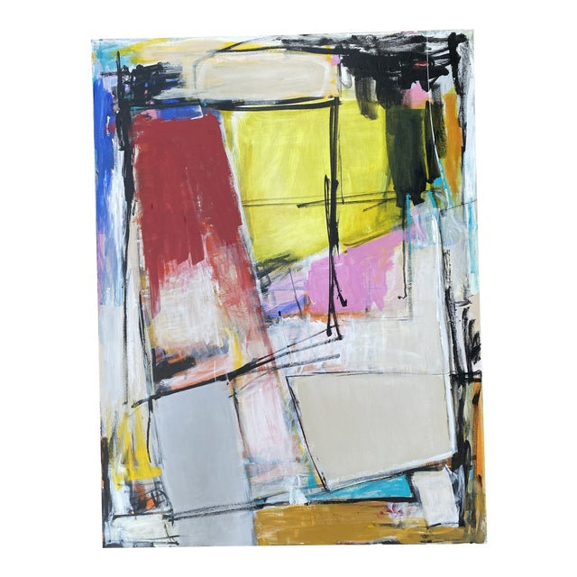 """""""Spare Change"""" Contemporary Abstract Mixed-Media Painting by Sarah Trundle For Sale"""