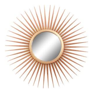 Parish-Hadley for Baker Furniture Gold Gilt Sunburst Convex Mirror For Sale