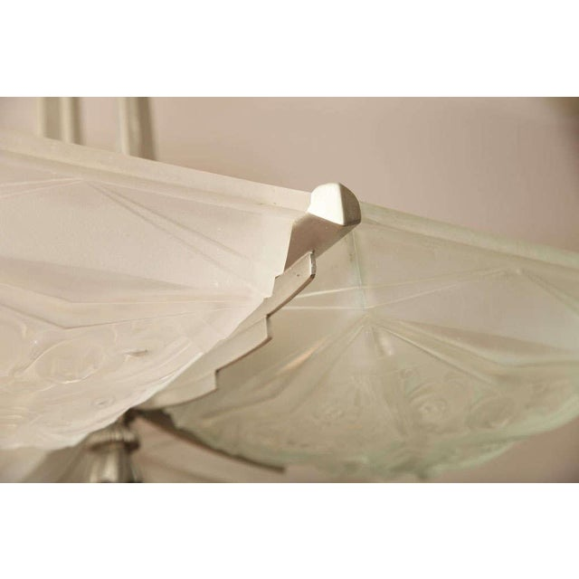 Transparent French Art Deco Square-Shaped Chandelier For Sale - Image 8 of 10