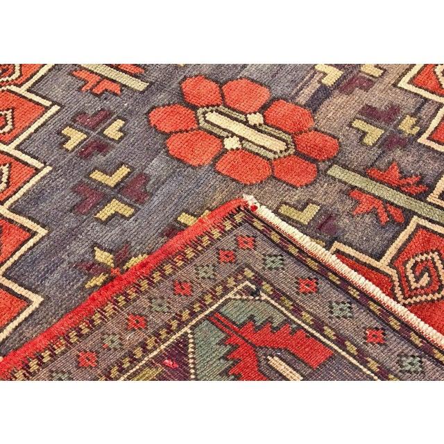 "Illustration 1960s Turkish Oushak Rug, 5'2"" X 11'10"" For Sale - Image 3 of 4"