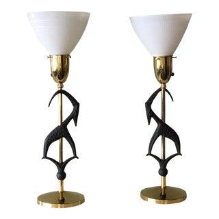 1950s Rembrandt Gazelle Table Lamps - a Pair For Sale