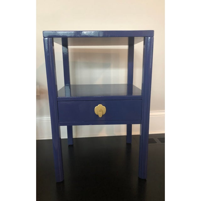 Chinoiserie 1950's Landstrom Furniture High Gloss Nightstand For Sale - Image 3 of 8