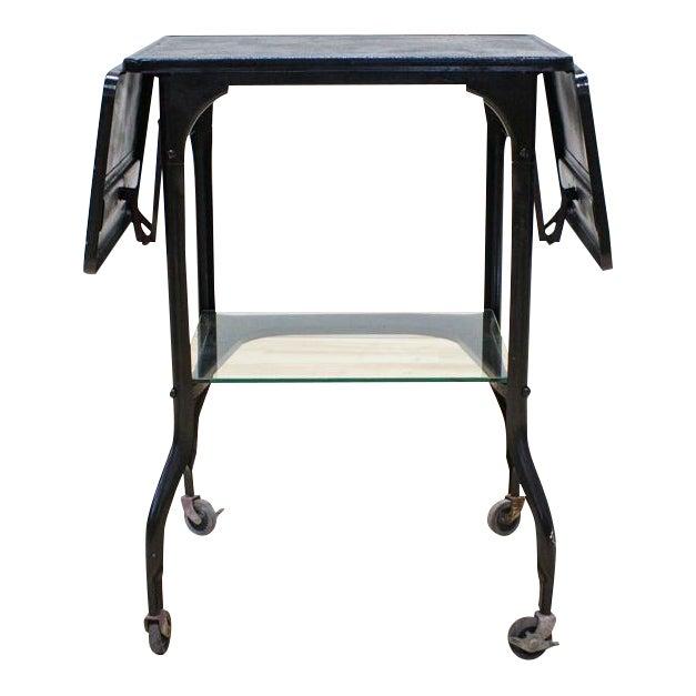 Black Industrial Bar Cart - Image 1 of 9