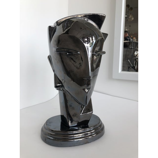 "20th Century Abstract Porcelain Art Deco ""Myng"" Head Sculpture Bust - Image 3 of 7"
