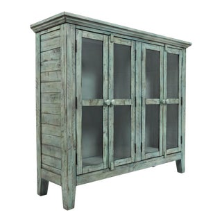 Rustic Vintage Distressed Blue Cabinet