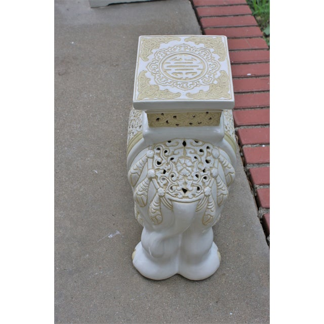 Mid-Century Elephant Garden Seat Stool - Image 5 of 10