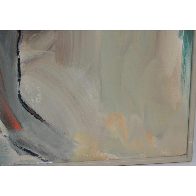 1960 Vintage Abstract Oil Painting by Lida Giambastiani For Sale - Image 5 of 8