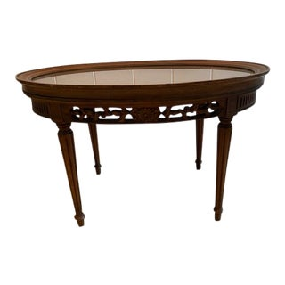 20th Century True Grand Rapids Mahogany Table With Removable Top For Sale