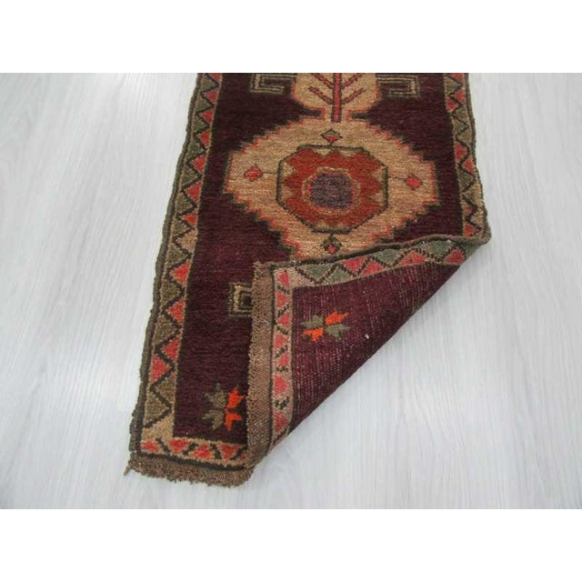Vintage Turkish Kars Rug - 2′1″ × 3′4″ For Sale - Image 4 of 4