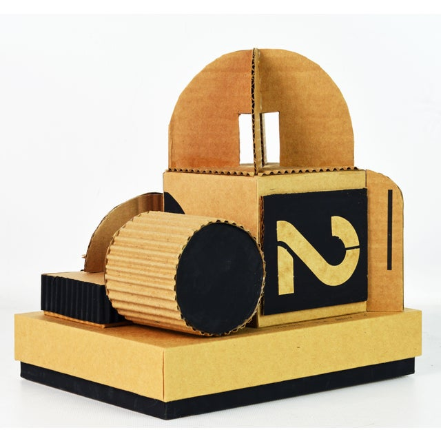 Cubist Bauhaus Style Architectural Cardboard Table Sculpture by Virgil Greca For Sale - Image 13 of 13