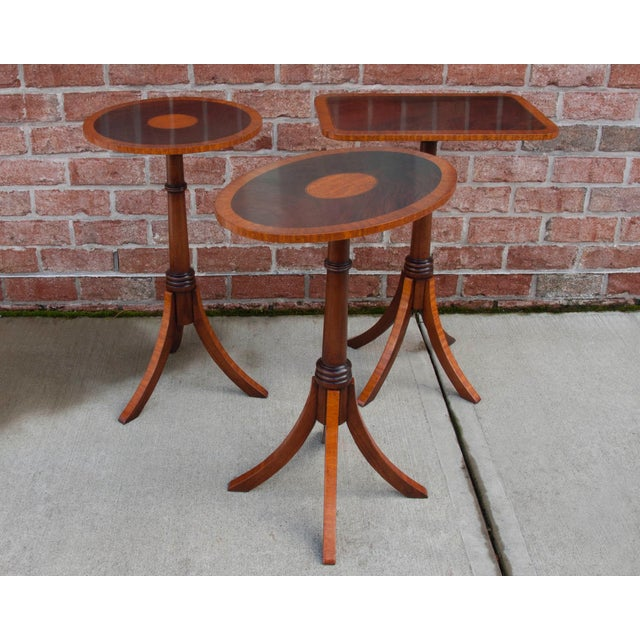 English Traditional Mahogany Wine Table For Sale - Image 4 of 5
