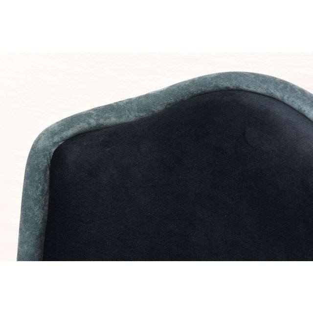 Textile Two-Toned High-Back Adrian Pearsall Swivel Chair in Velvet, 1960s, Usa For Sale - Image 7 of 8
