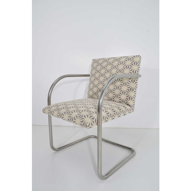 Mid-Century Modern Mies Van Der Rohe for Knoll Tubular Brno Chairs - Set of 4 For Sale - Image 3 of 8