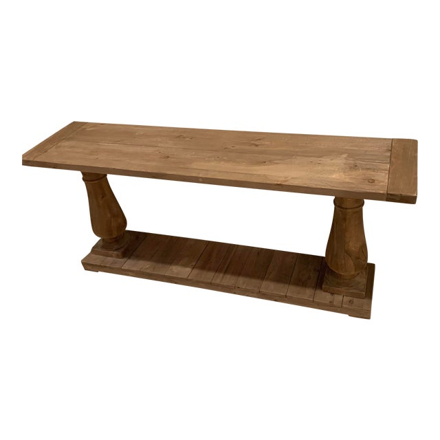 newest e091f b3ce6 Rustic Restoration Hardware Balustrade Salvaged Wood Console Table