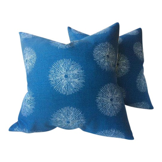 "Groundworks ""Sea Urchin"" Pillows - a Pair For Sale"
