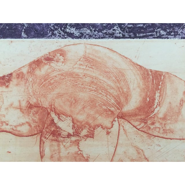 Vintage Surreal Abstract Etching by Lajos Kondor - Image 7 of 8