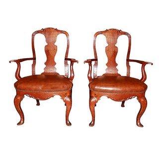 19th Century Danish Armchairs - Pair For Sale