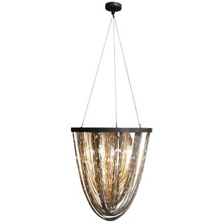 Cream Colored Beaded Chandelier For Sale
