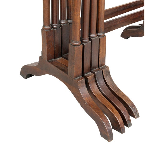 Regency Mahogany Quartetto Tables - Set of 4 For Sale - Image 9 of 12
