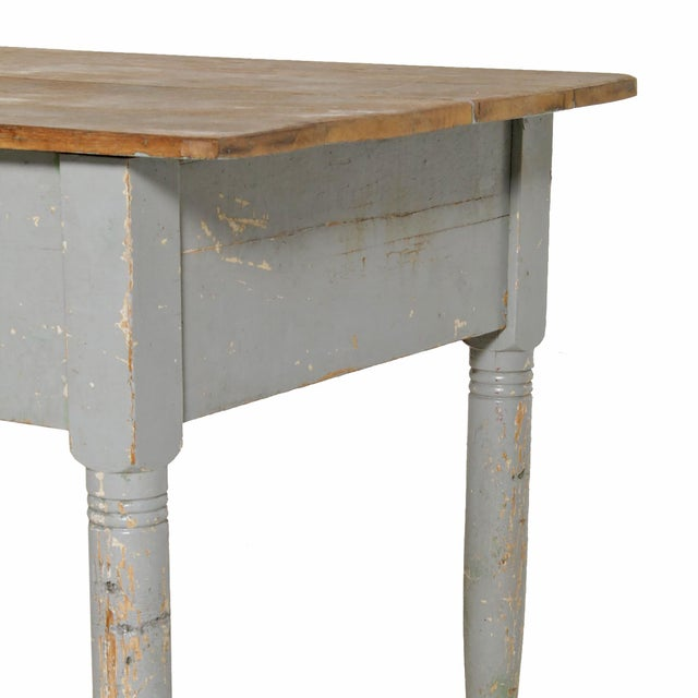 Early 20th Century Early 20th Century American Farm Table For Sale - Image 5 of 11