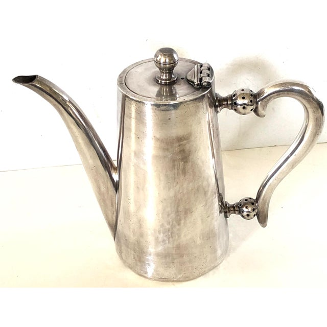 Perfect for that 2nd cup of tea this silver plate hotel teapot, marked Maison Aerts, was made by the Belgian firm of Bruno...
