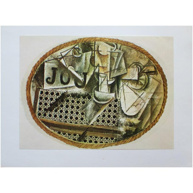 "1971 Pablo Picasso, ""Still Life at the Cane Chair"" Original Period Photogravure For Sale In Dallas - Image 6 of 9"