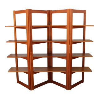 Danish Teak Room Divider/ Bookshelf