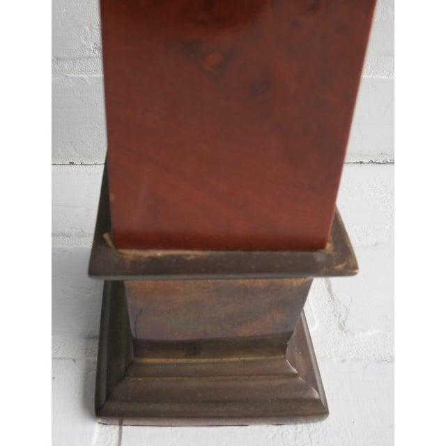 1960s Frederick Cooper Brass & Burl Wood Large Obelisk For Sale - Image 5 of 13