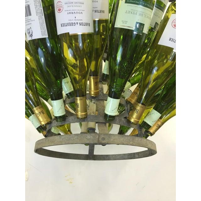 Vintage French Bottle Rack Chandelier - Image 2 of 5
