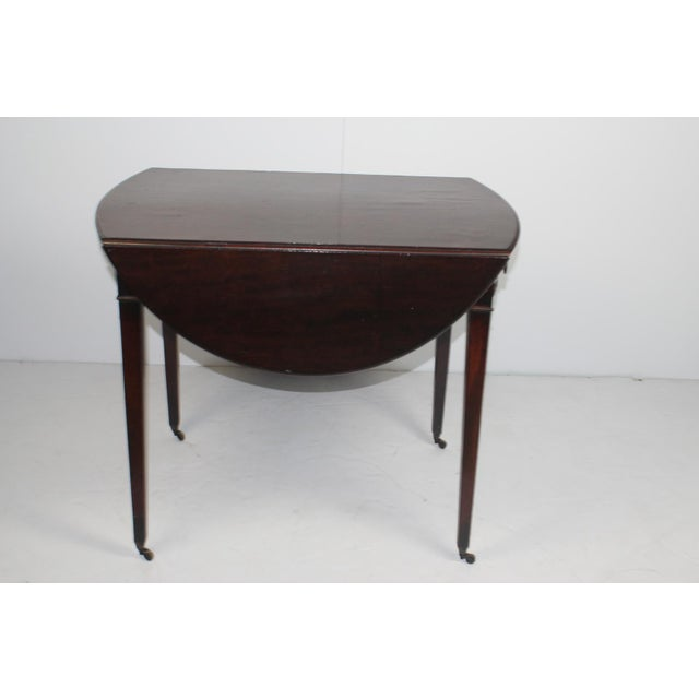 19th Century English Mahogany Pembroke Table - Image 5 of 5